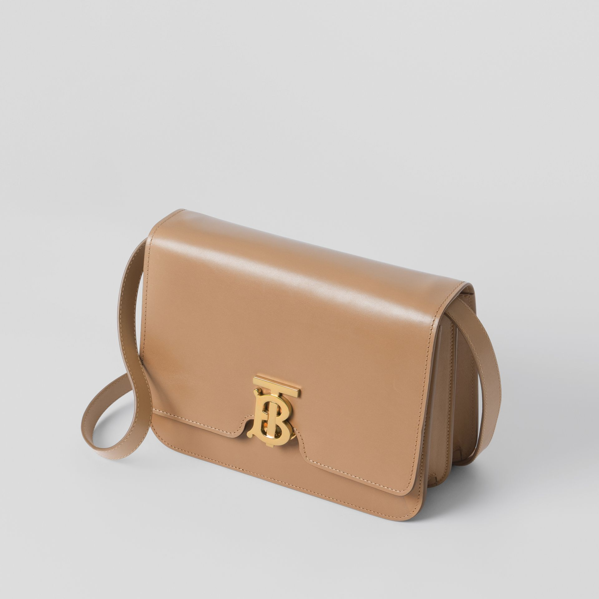 Medium Leather TB Bag in Light Camel - Women | Burberry United Kingdom - gallery image 1