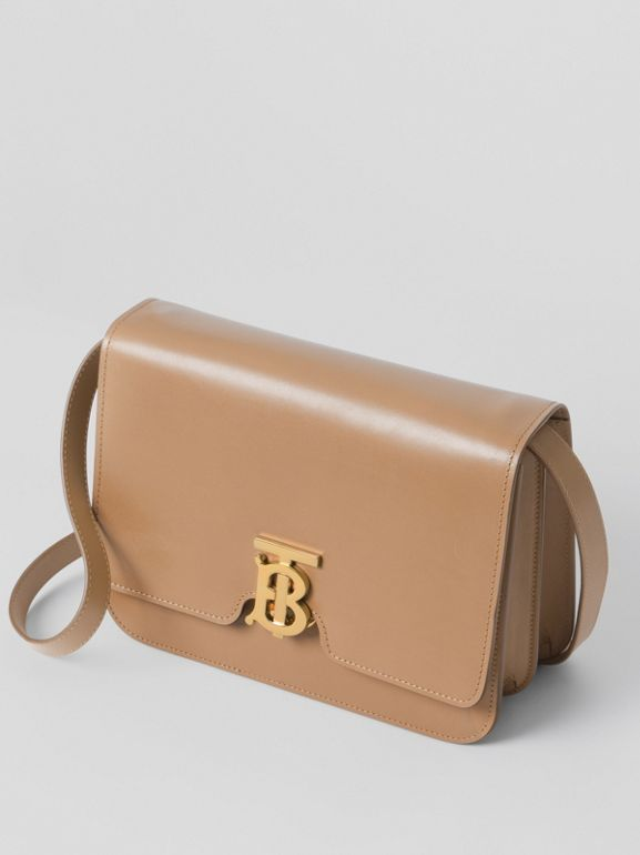 Medium Leather TB Bag in Light Camel - Women | Burberry United Kingdom - cell image 1