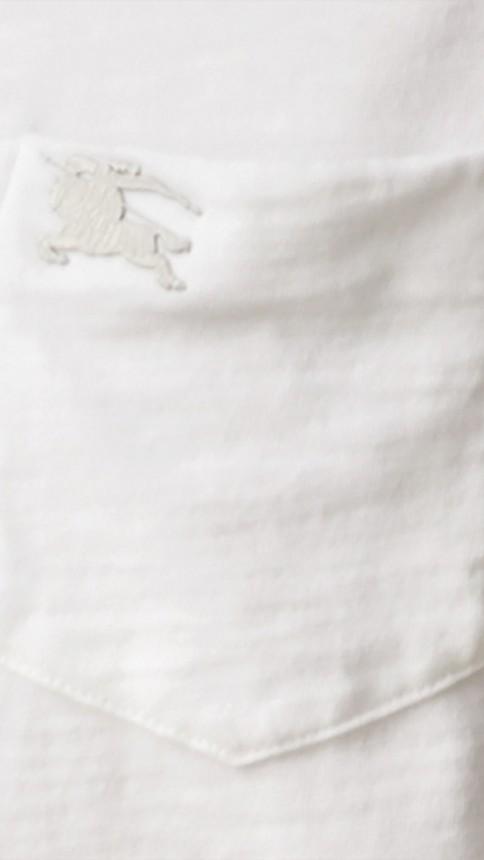 White Slub Jersey Double Dyed T-Shirt White - Image 2