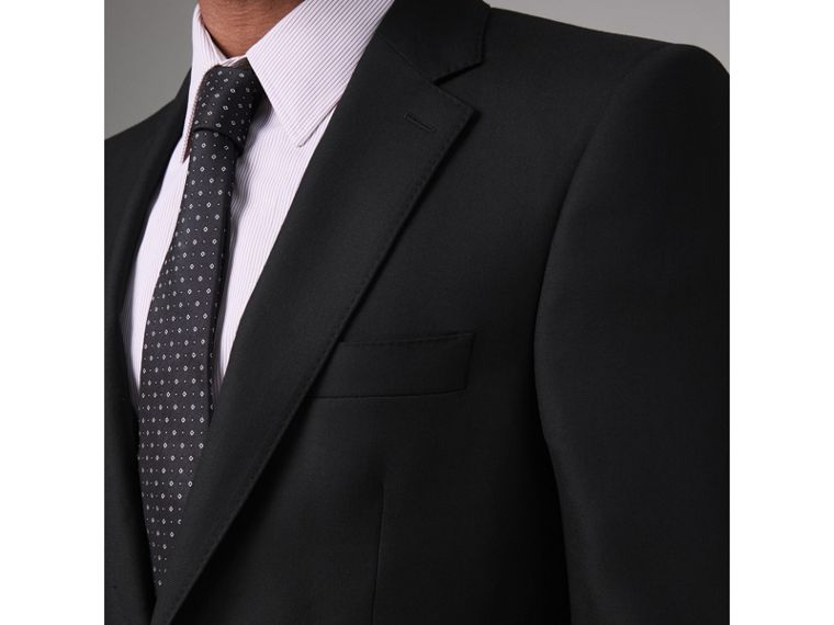 Modern Fit Wool Twill Suit in Black - Men | Burberry United States - cell image 1