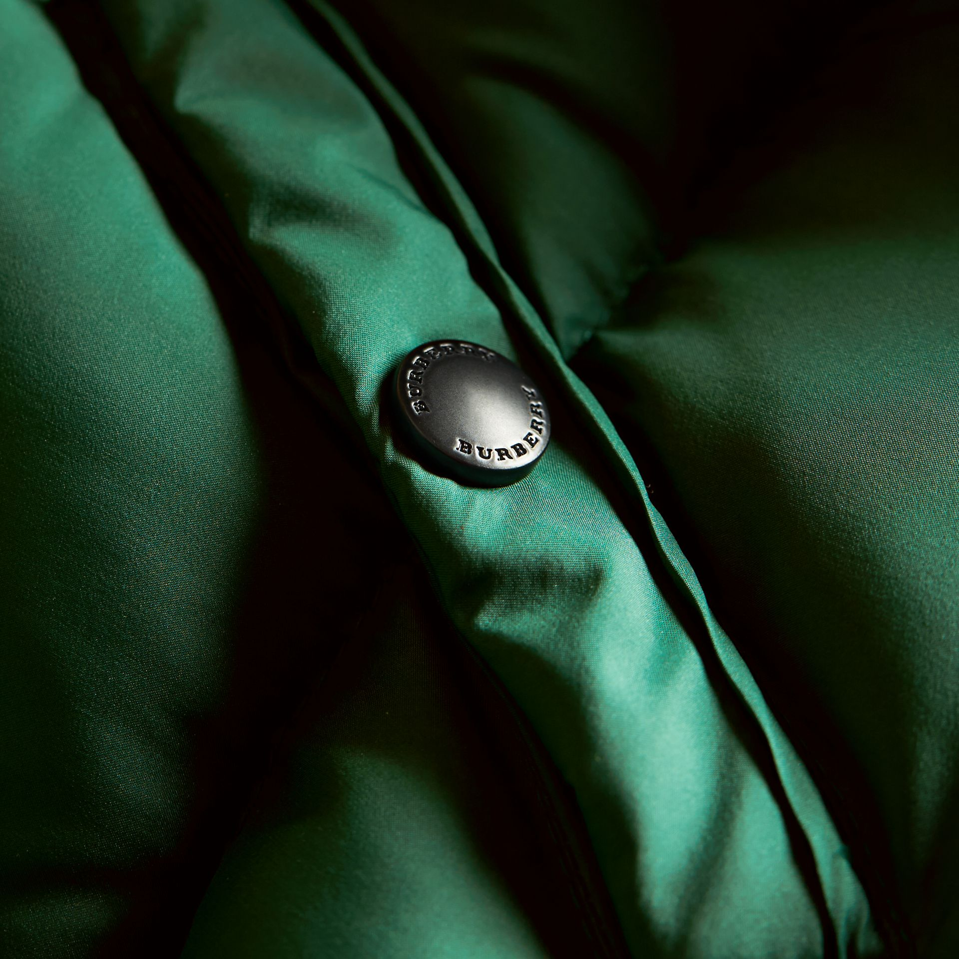 Down-filled Hooded Puffer Jacket in Pigment Green - Boy | Burberry - gallery image 1
