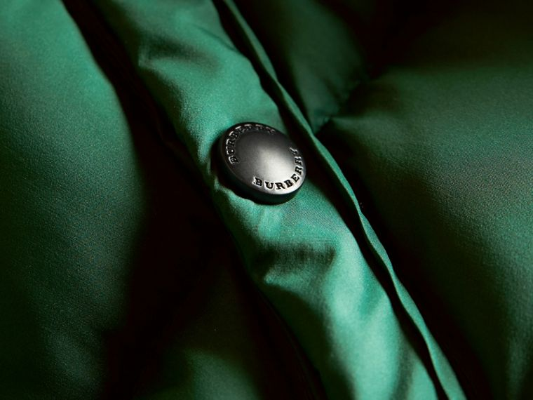 Down-filled Hooded Puffer Jacket in Pigment Green - Boy | Burberry - cell image 1