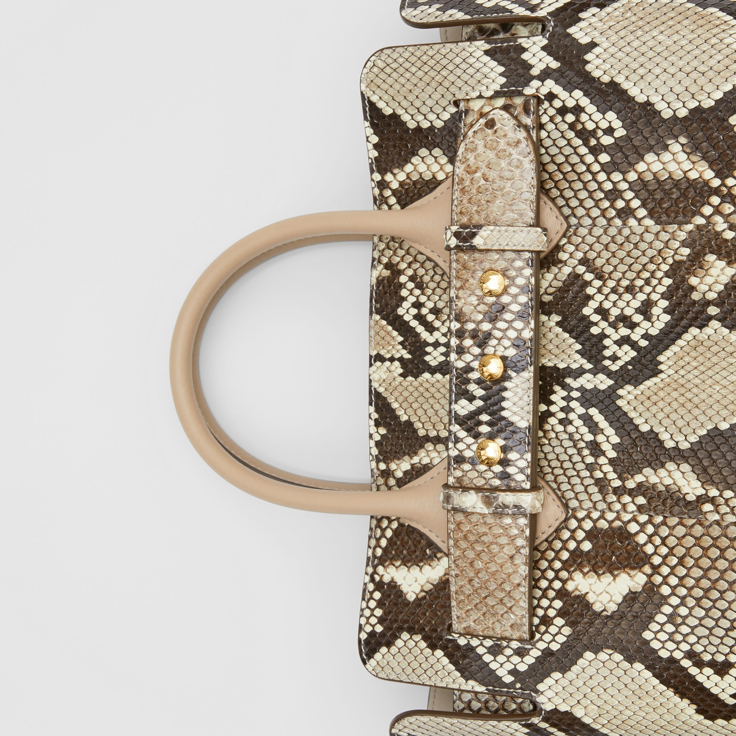 The Small Python Triple Stud Belt Bag in Natural/pale Drift - Women | Burberry Australia - 2