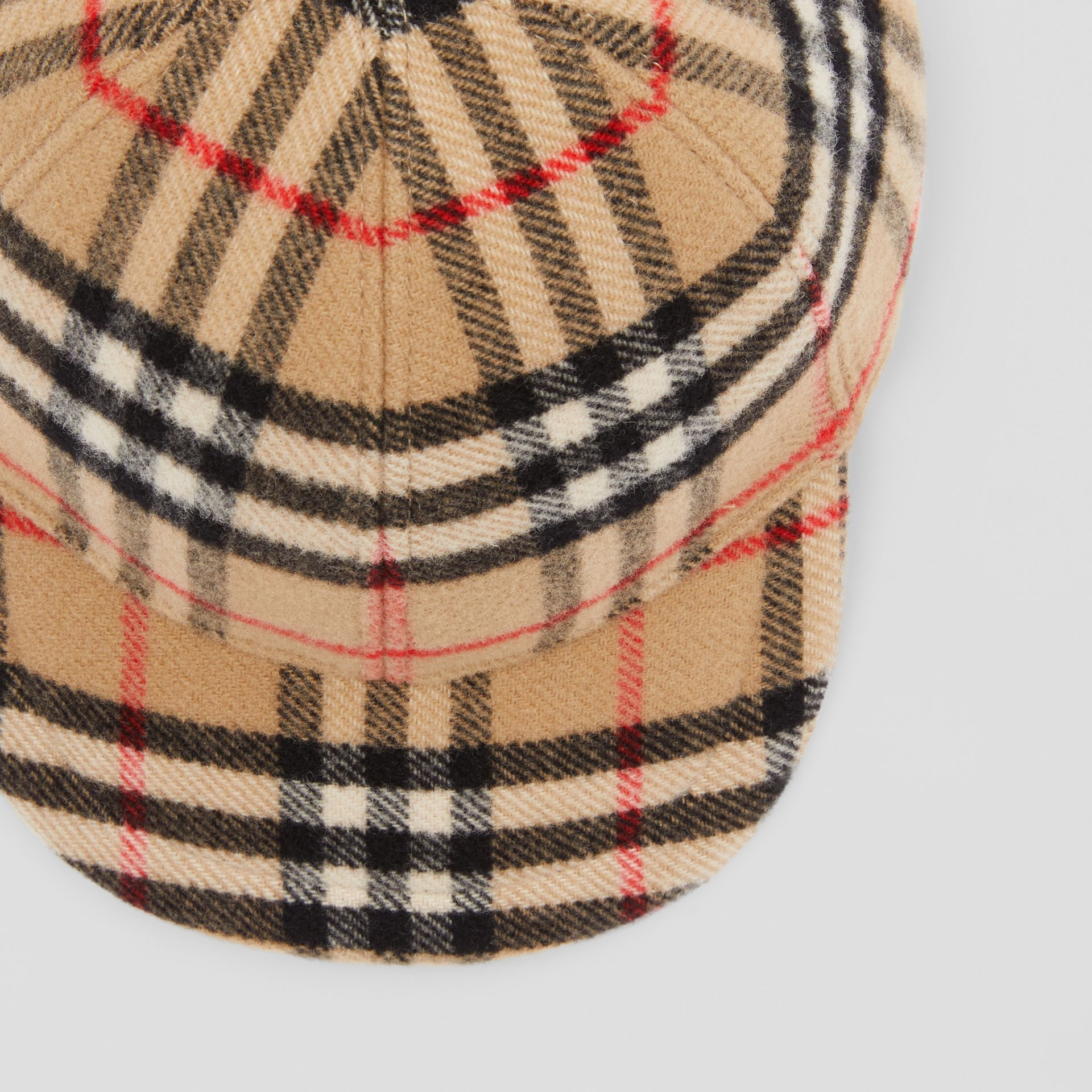 Vintage Check Wool Baseball Cap in Archive Beige - Children | Burberry - gallery image 1