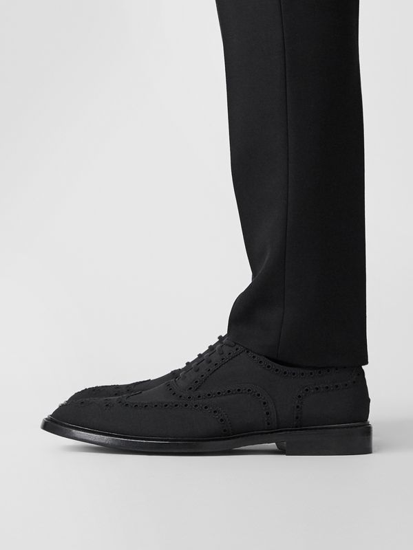 Studded Mohair Wool Brogues in Black | Burberry - cell image 2