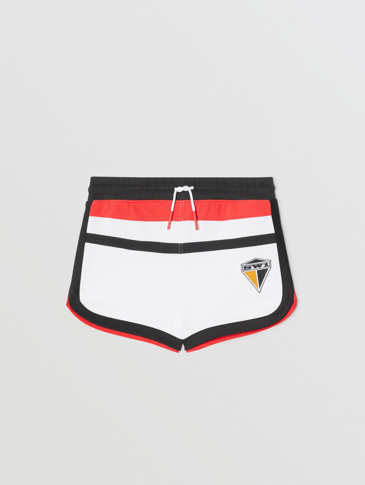 Logo Graphic Cotton Shorts in White