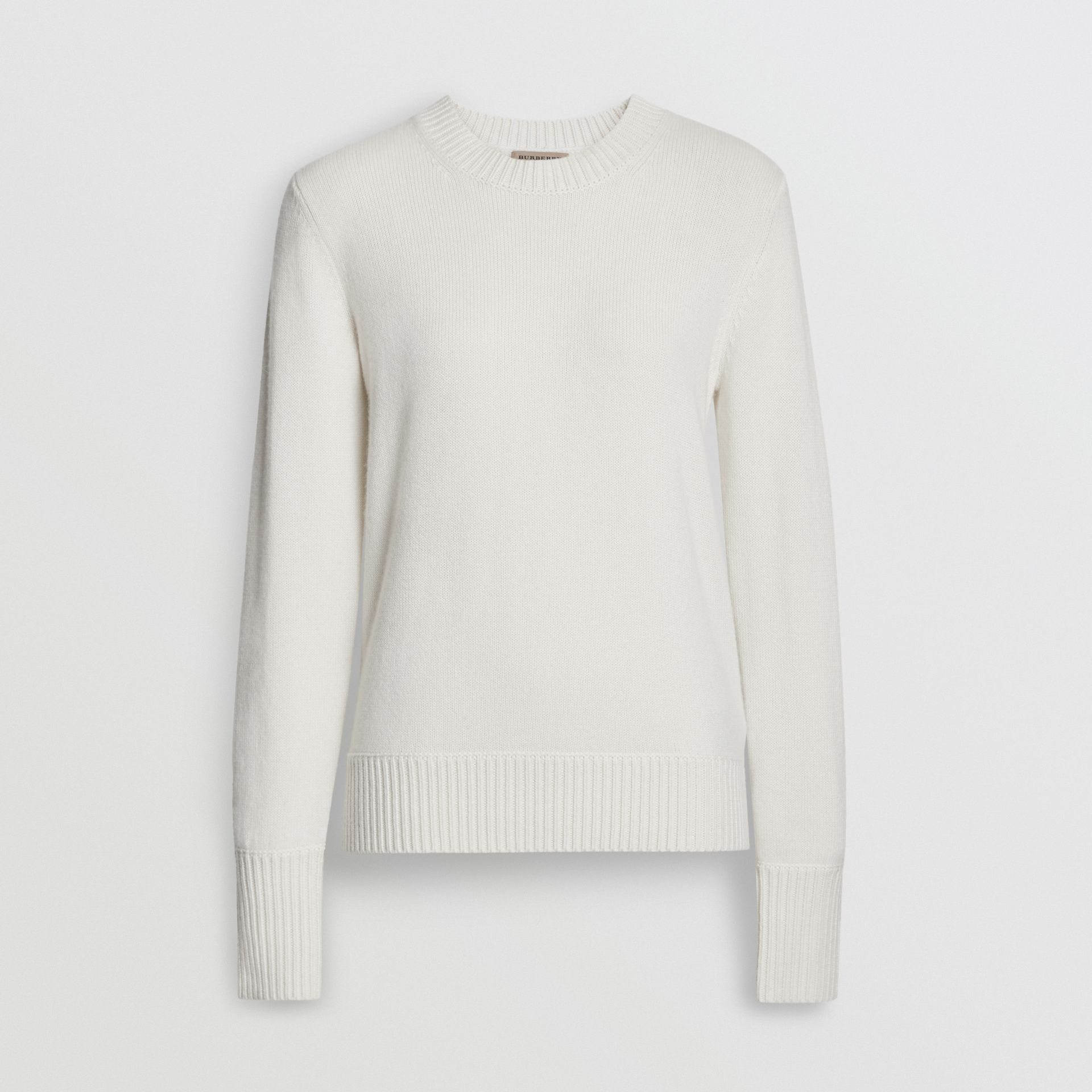 Archive Logo Appliqué Cashmere Sweater in White - Women | Burberry Australia - gallery image 3