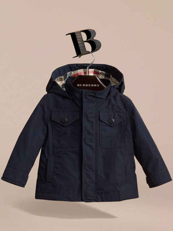 Hooded Field Jacket in Ink | Burberry - cell image 2