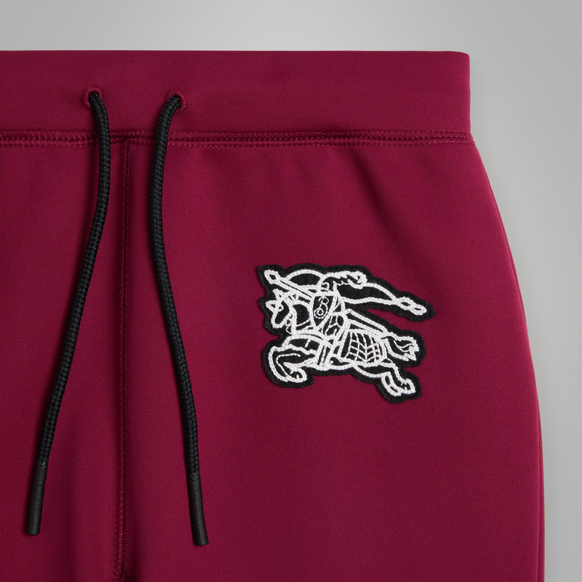 Graffiti Print Jersey Sweatpants in Burgundy | Burberry - gallery image 4
