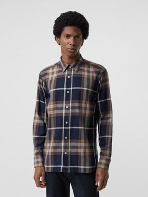 Chemises Check Pour Homme Burberry