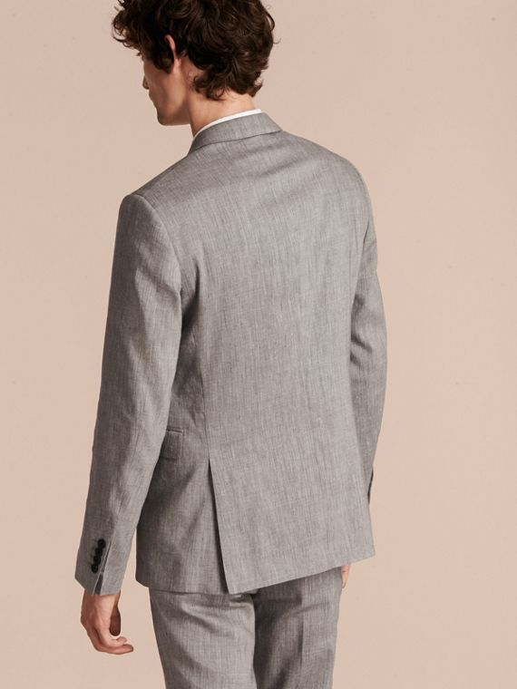 Slim Fit Travel Tailoring Linen Wool Blend Suit - Men | Burberry Singapore - cell image 2