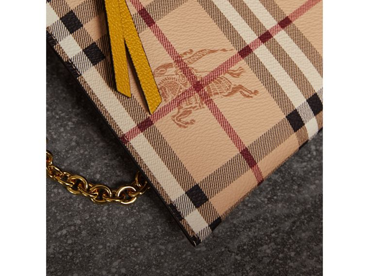 Haymarket Check and Two-tone Leather Clutch Bag in Dusty Pink/multicolour - Women | Burberry Hong Kong - cell image 1