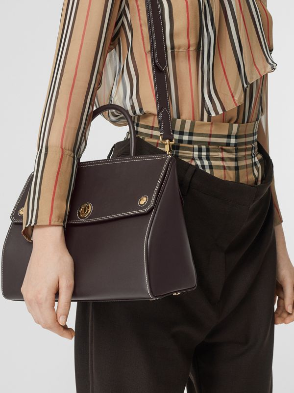 Small Leather Elizabeth Bag in Coffee - Women | Burberry Australia - cell image 2