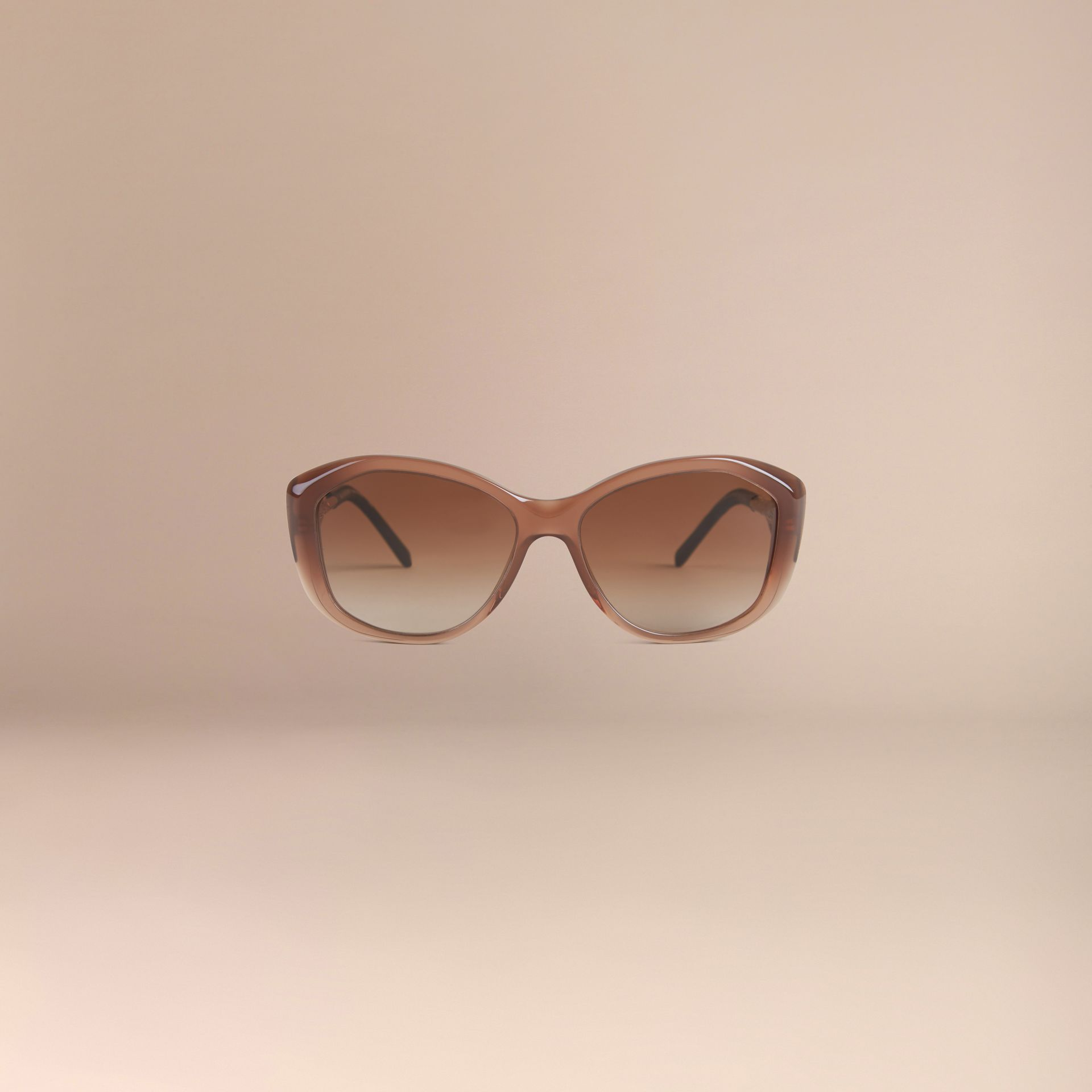 Dark amber Gabardine Collection Square Frame Sunglasses Dark Amber - gallery image 3