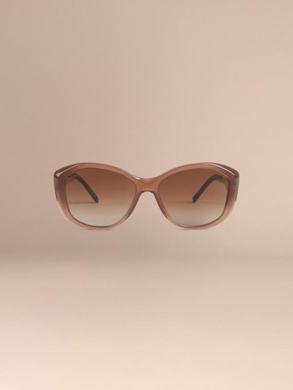 Ambra scuro Occhiali da sole con montatura quadrata collezione Gabardine Ambra Scuro - cell image 2
