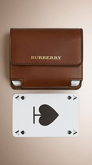 Sartorial Leather Playing Card Case