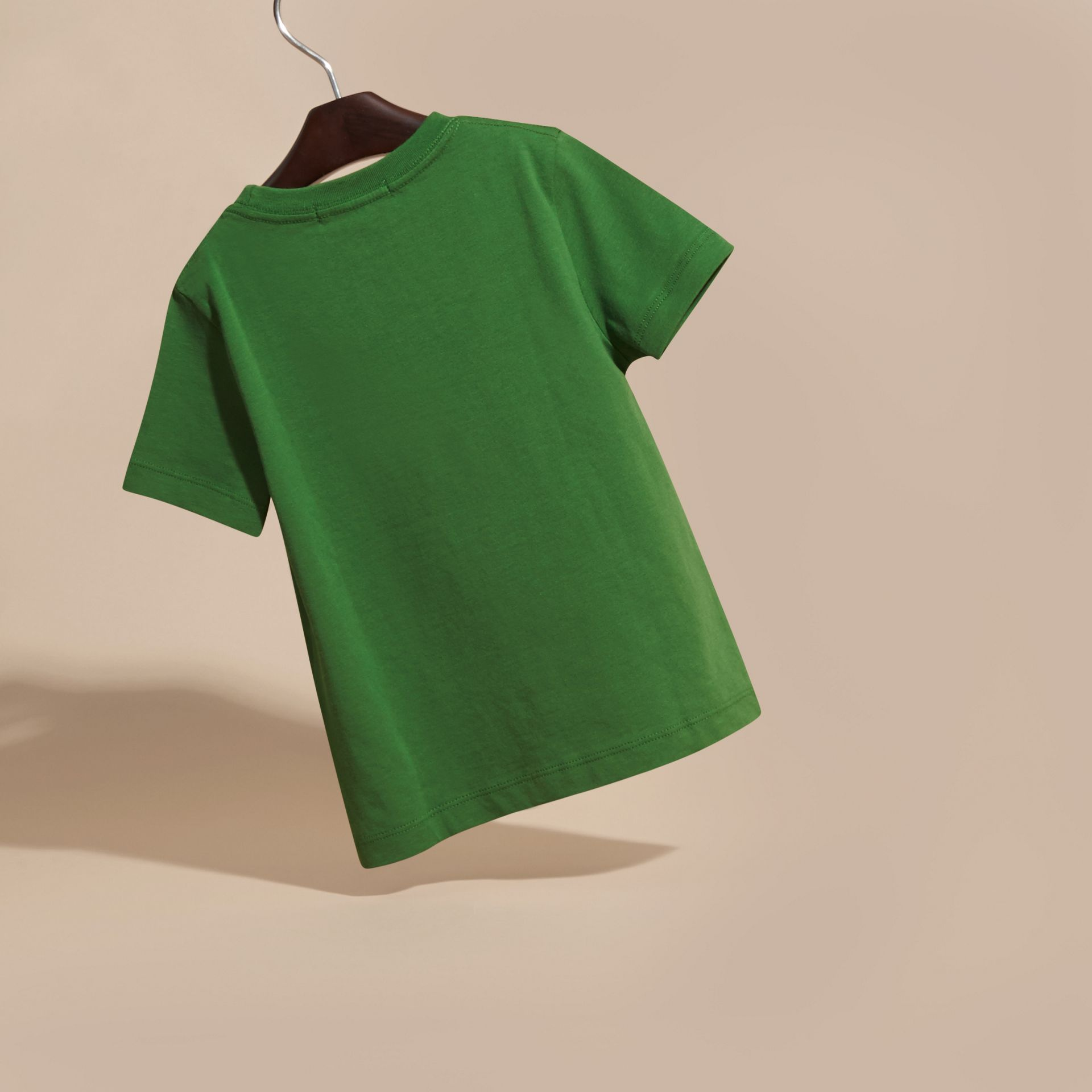 Bright fern green Check Pocket T-Shirt Bright Fern Green - gallery image 4