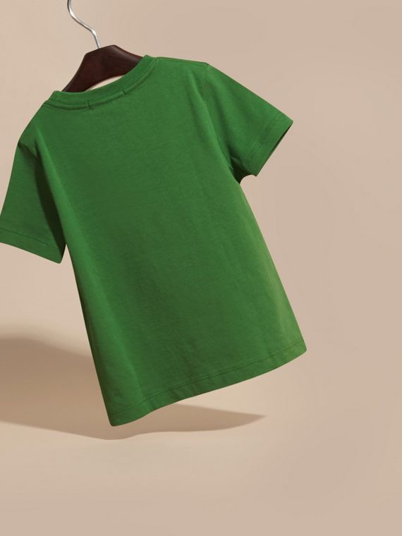 Bright fern green Check Pocket T-Shirt Bright Fern Green - cell image 3