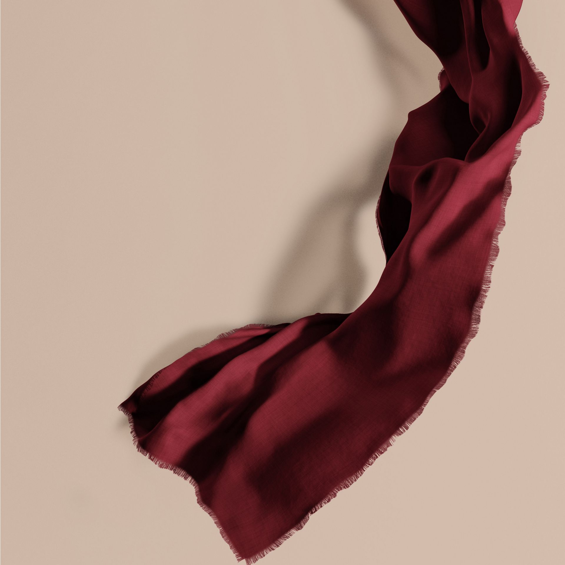The Lightweight Cashmere Scarf in Plum | Burberry - gallery image 1
