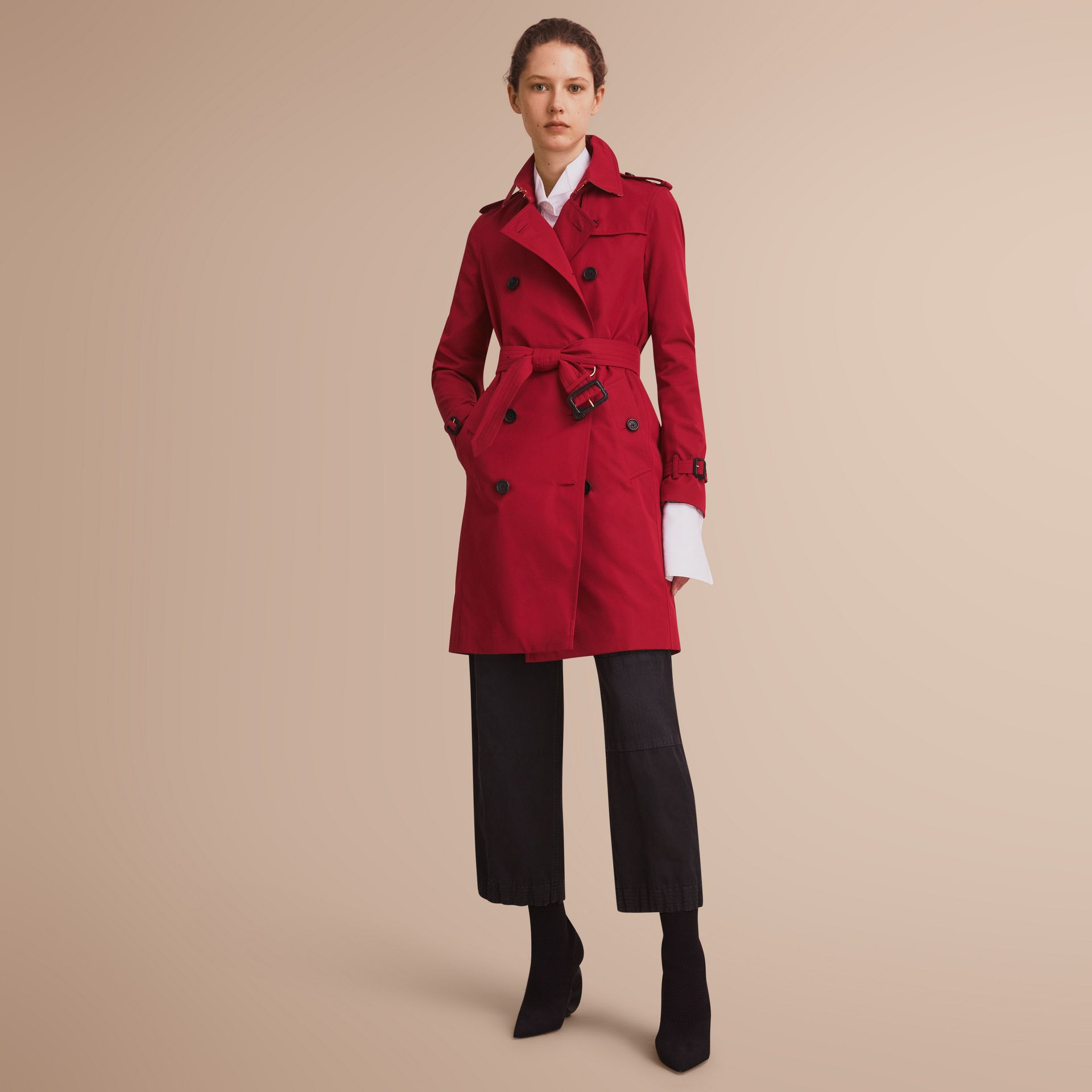 The Kensington – Long Heritage Trench Coat Parade Red - gallery image 1