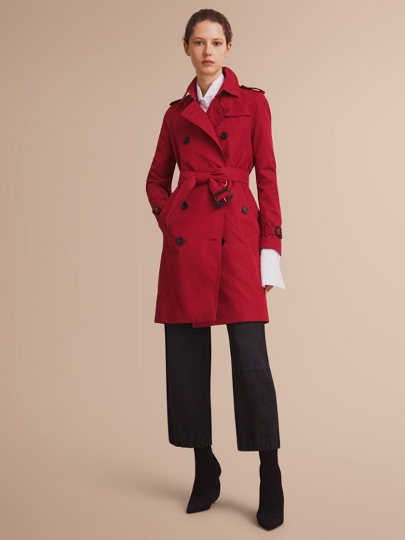The Kensington - Trench coat Heritage lungo (Rosso Parata) - Donna | Burberry