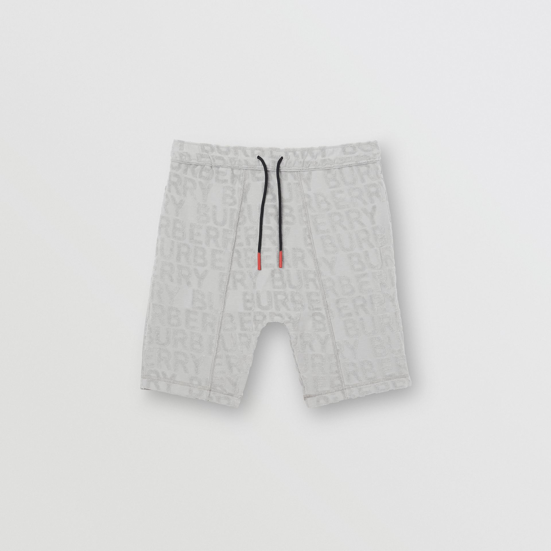 Logo Towelling Drawcord Shorts in Pale Grey - Children | Burberry - gallery image 0