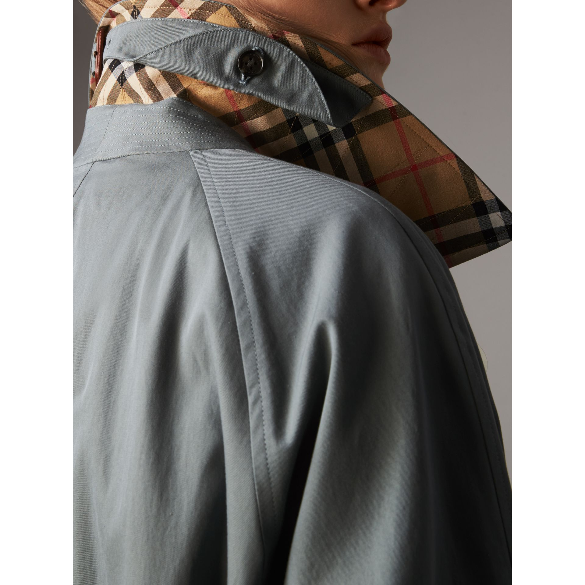 The Brighton – Extra-long Car Coat in Dusty Blue - Women | Burberry Canada - gallery image 2