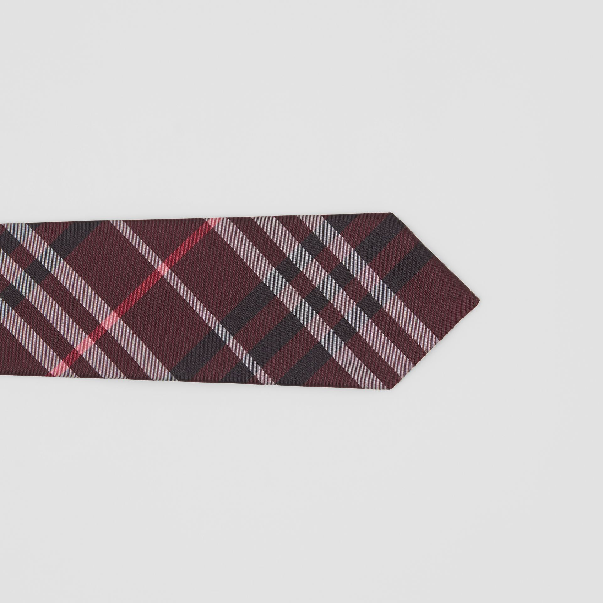 Classic Cut Vintage Check Silk Tie in Claret - Men | Burberry - gallery image 1