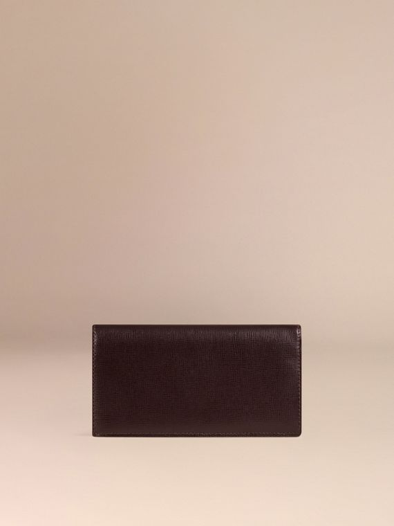 Wine London Leather Continental Wallet - cell image 3