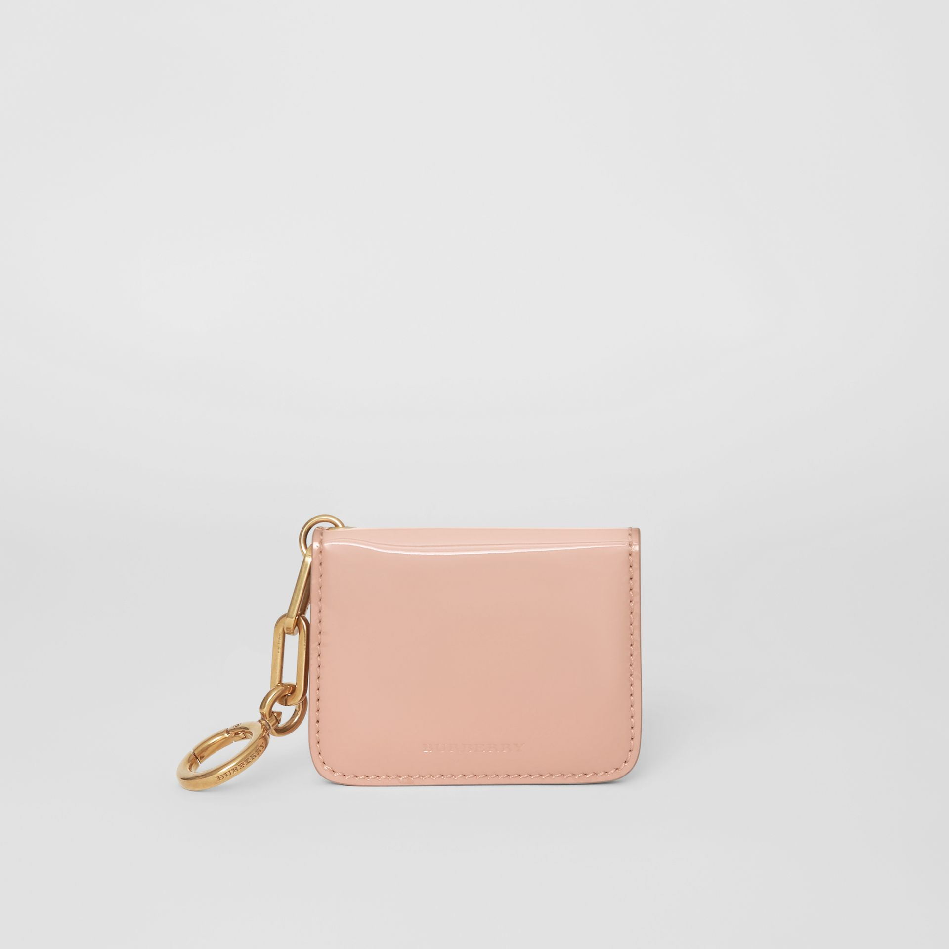 Link Detail Patent Leather ID Card Case Charm in Pale Fawn Pink - Women | Burberry United States - gallery image 5
