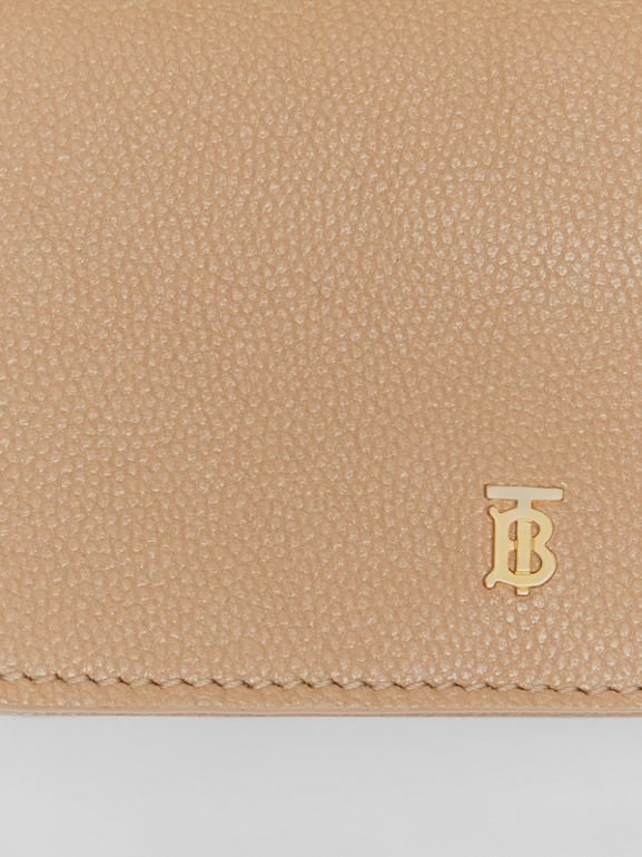 Small Grainy Leather Folding Wallet in Archive Beige - Women | Burberry Singapore - cell image 1