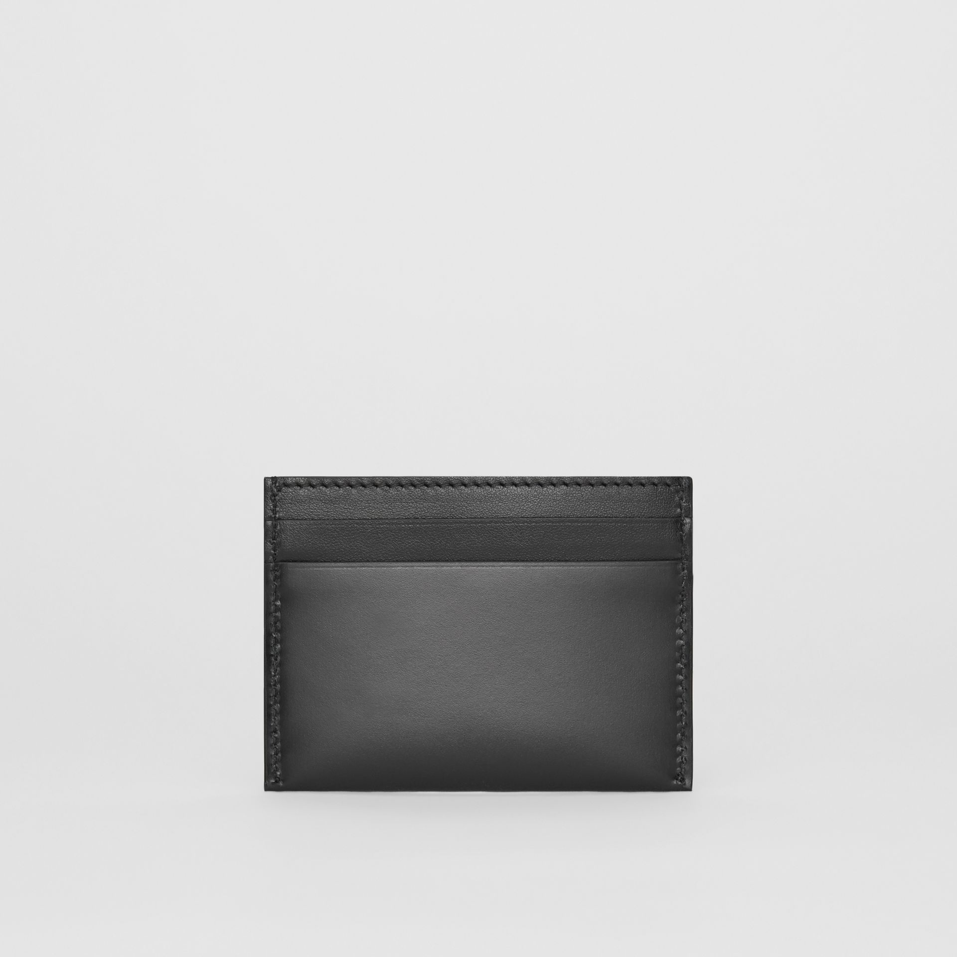 Horseferry Print Leather Card Case in Black | Burberry United States - gallery image 4