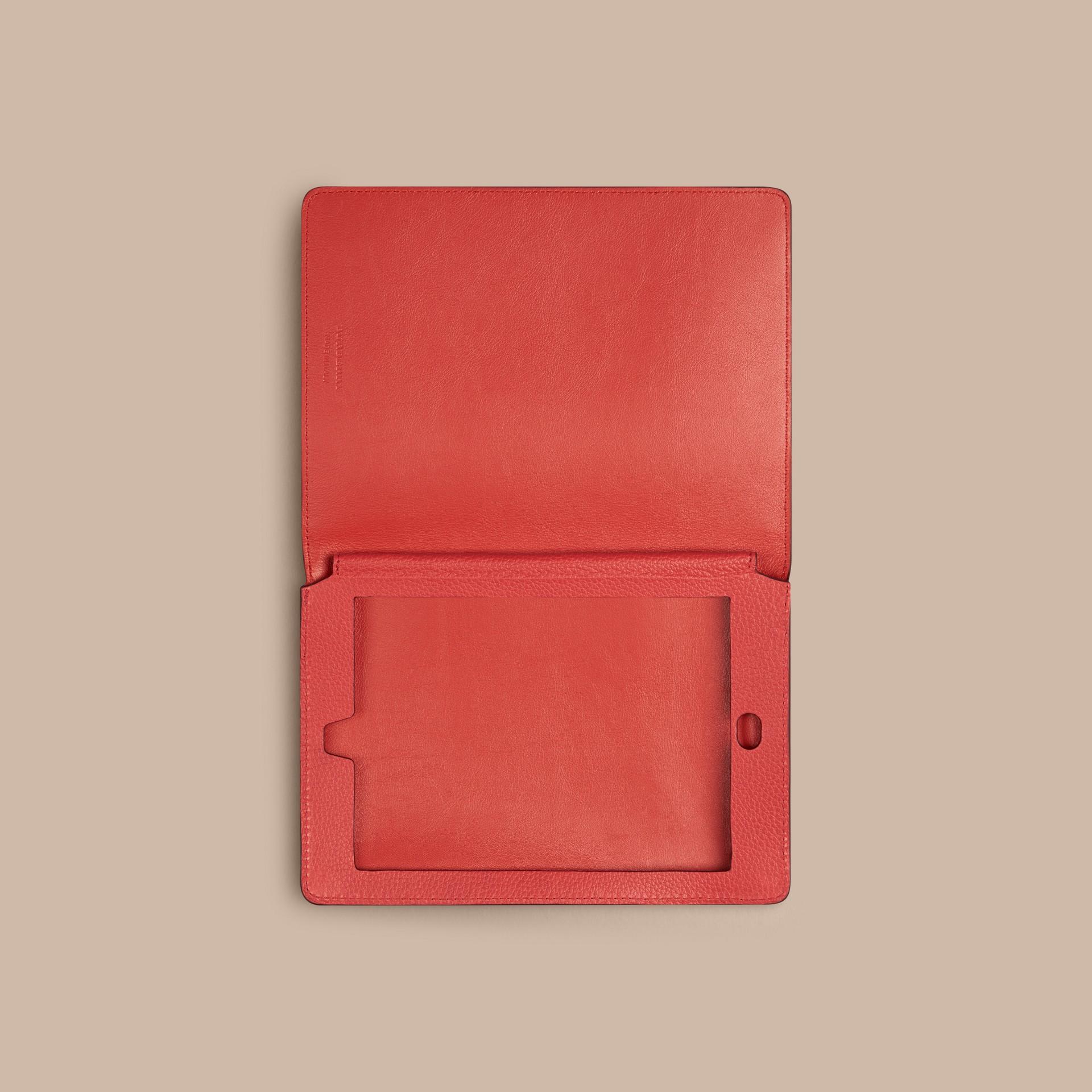 Orange red Grainy Leather iPad Mini Case Orange Red - gallery image 3