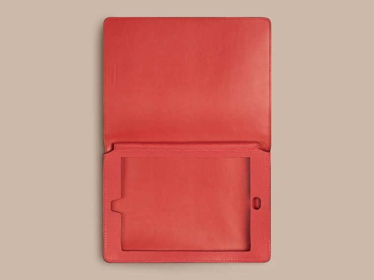 Orange red Grainy Leather iPad Mini Case Orange Red - cell image 2