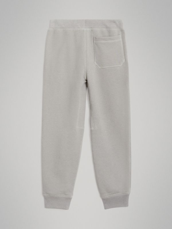 Cotton Jersey Trackpants in Chalk Grey Melange | Burberry - cell image 3