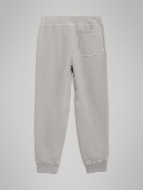 Pantalones deportivos en tejido jersey de algodón (Mezcla  Gris Tiza) | Burberry - cell image 3