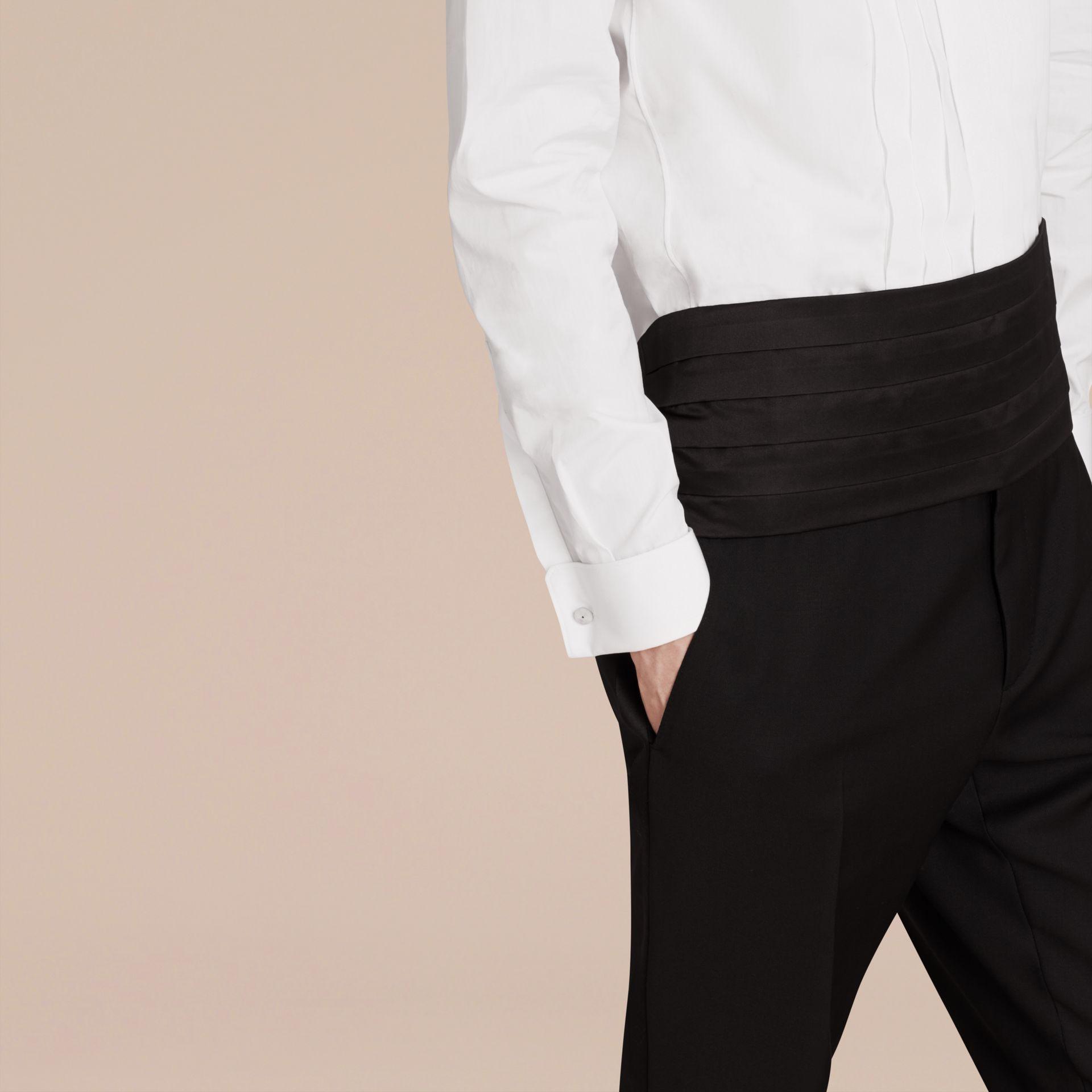 Slim Fit Cotton Poplin Dress Shirt - Men | Burberry Singapore - gallery image 4