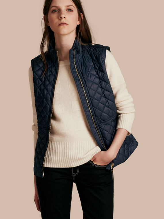 Diamond Quilted Gilet Ink