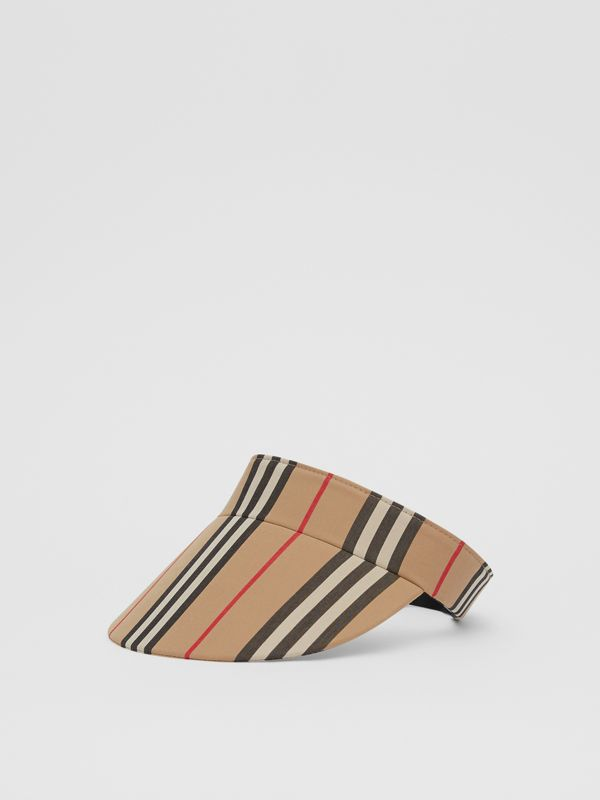 Icon Stripe Visor in Archive Beige | Burberry - cell image 3