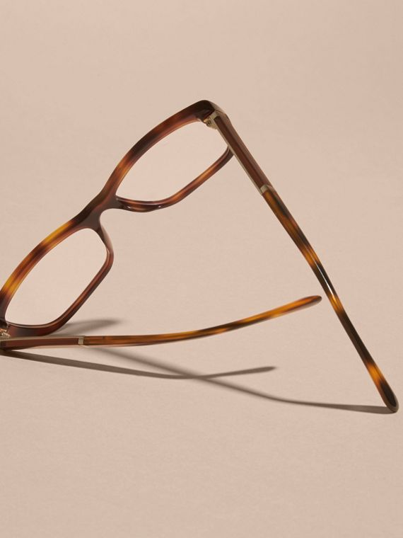 Light russet brown Check Detail Rectangular Cat-eye Optical Frames Light Russet Brown - cell image 3