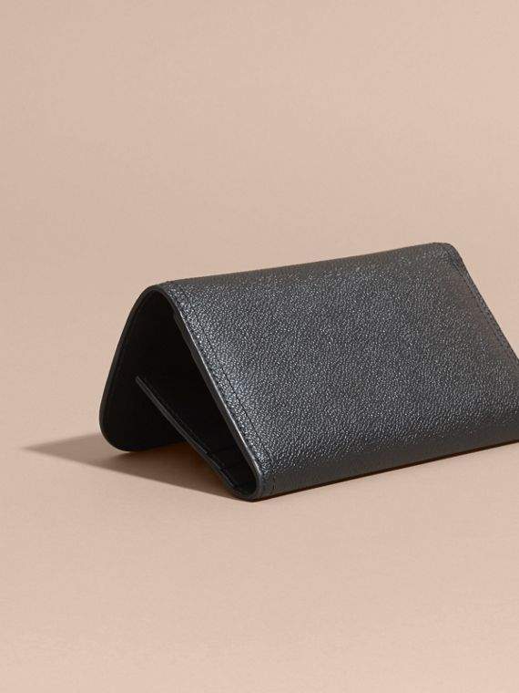 Leather Continental Wallet with Removable Coin Case in Black - Women | Burberry - cell image 3