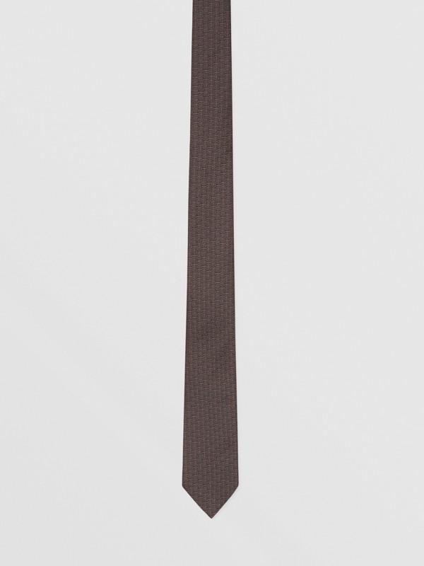 クラシックカット モノグラム シルクジャカード タイ (チャコール) - メンズ | バーバリー - cell image 3