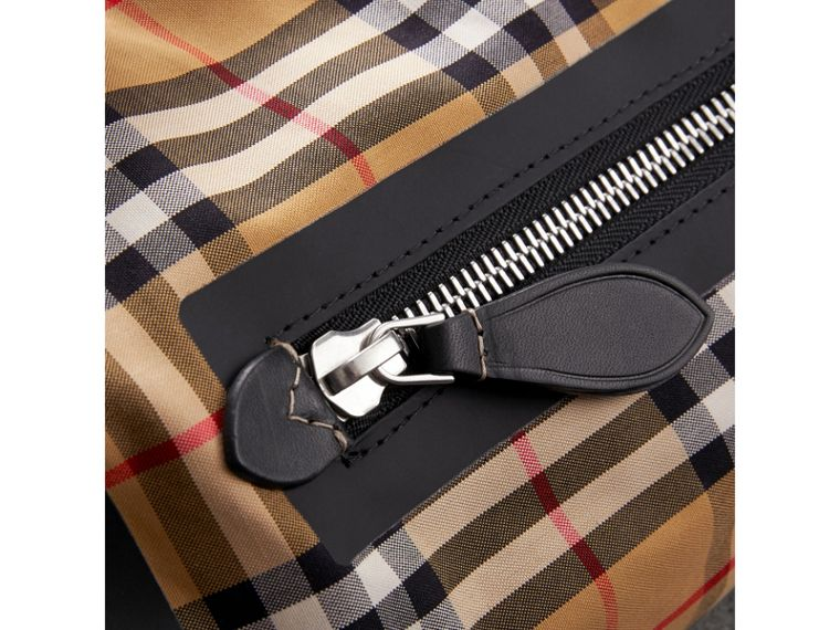 Small Vintage Check Cotton Duffle Bag in Antique Yellow - Women | Burberry Singapore - cell image 1