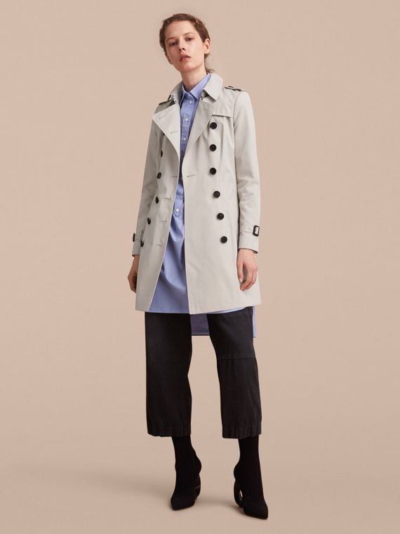 The Chelsea – Mid-length Heritage Trench Coat Stone