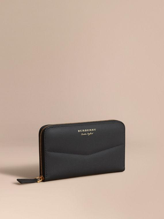 Trench Leather Ziparound Wallet - Women | Burberry Hong Kong