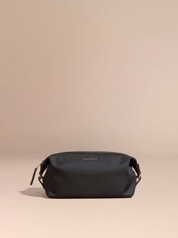 Leather Trim Washbag