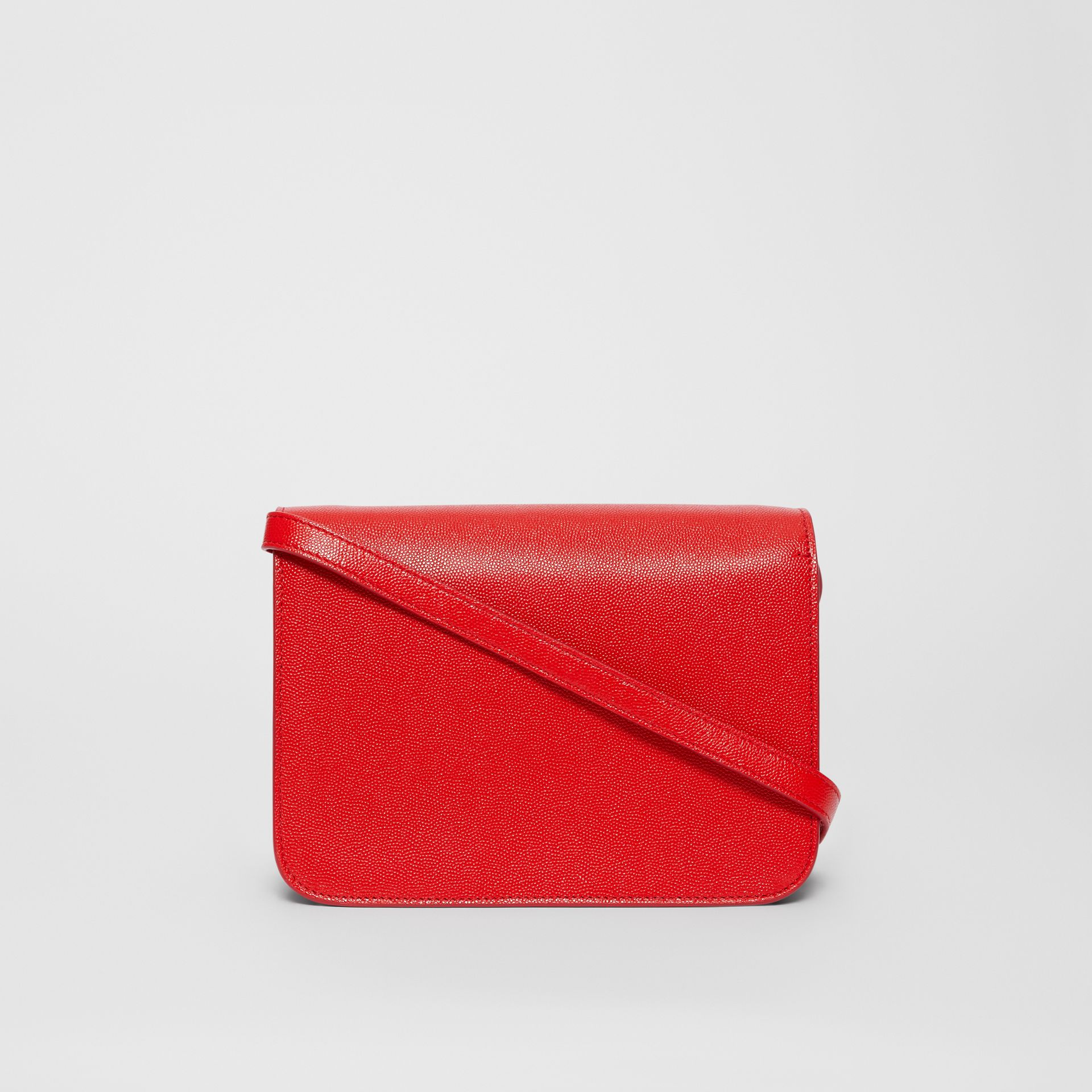 Small Grainy Leather TB Bag in Bright Red - Women | Burberry United Kingdom - gallery image 7