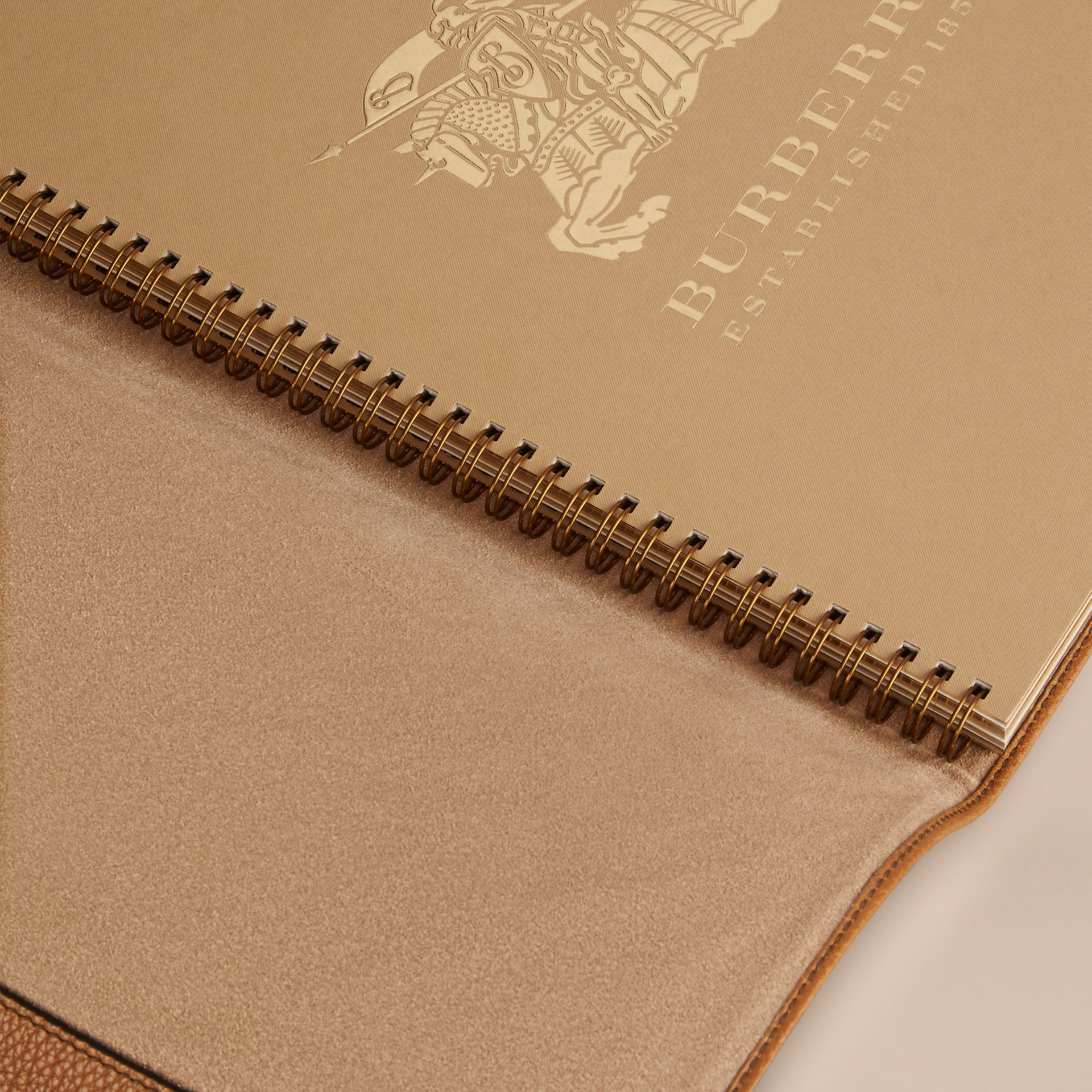 Tan Grainy Leather A4 Notebook Tan - gallery image 3