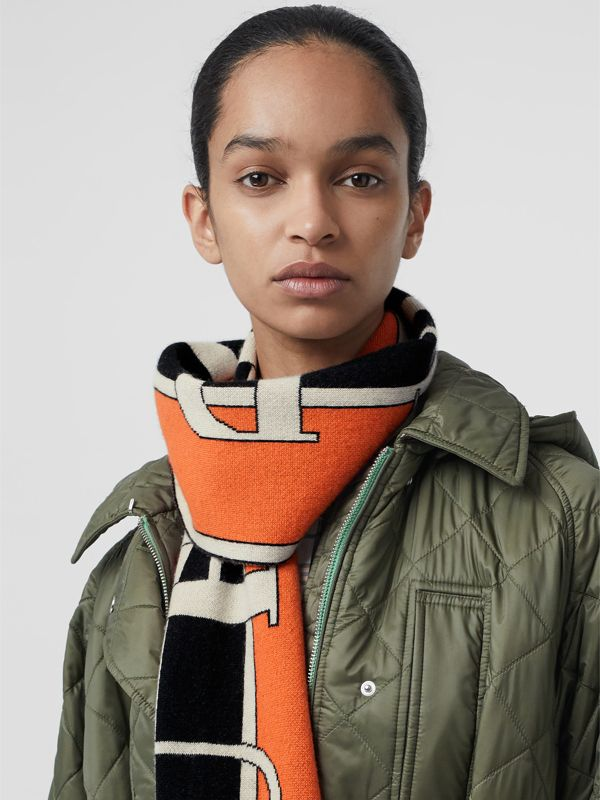 Logo Cashmere Scarf in Multicolour | Burberry United Kingdom - cell image 2