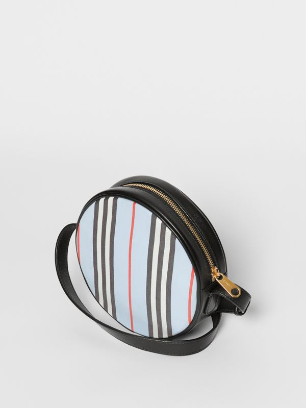 Icon Stripe Nylon Crossbody Bag in Pale Blue - Children | Burberry United States - cell image 2